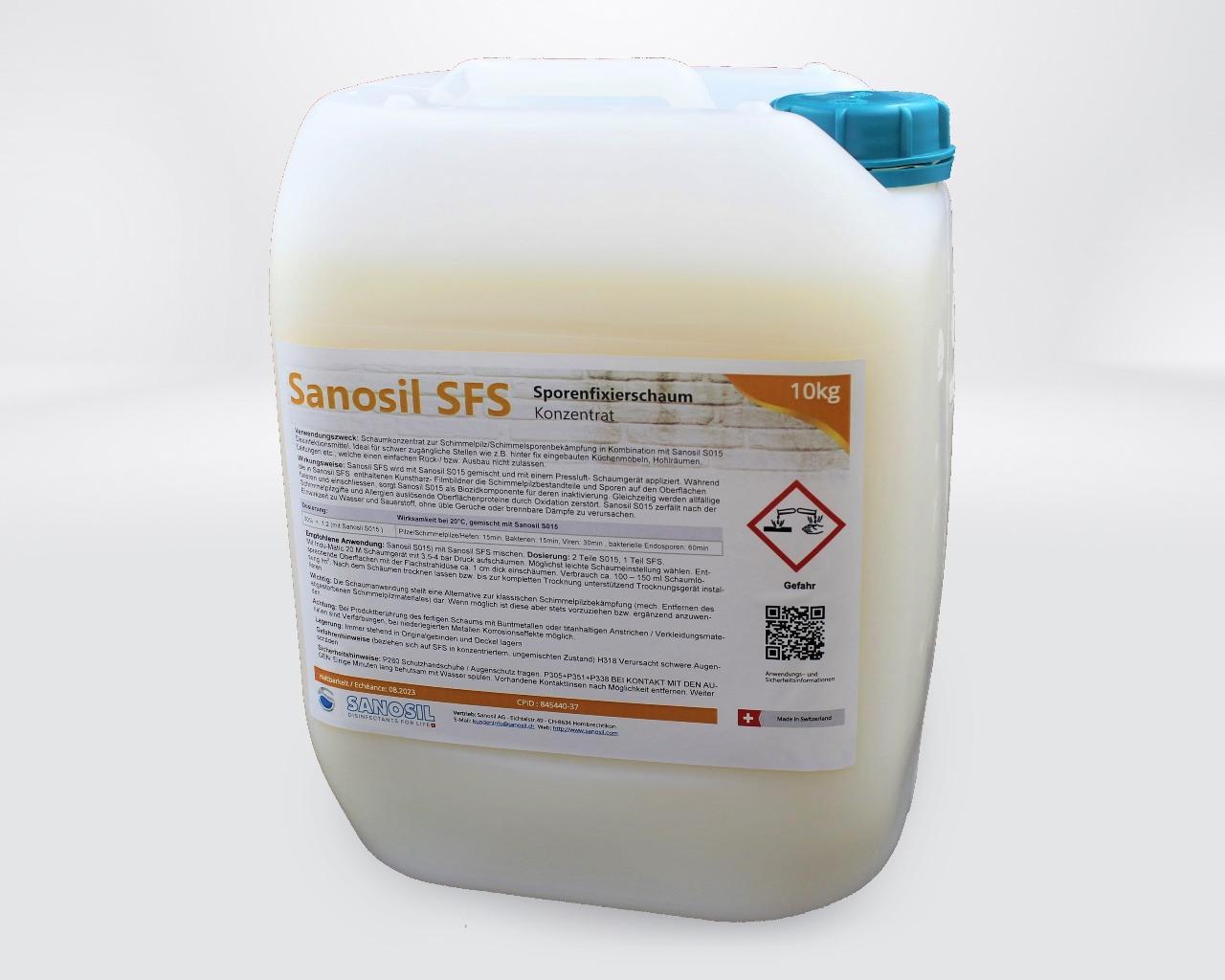 Sanosil SFS Schimmel-und Sporenfixierschaum 10kg