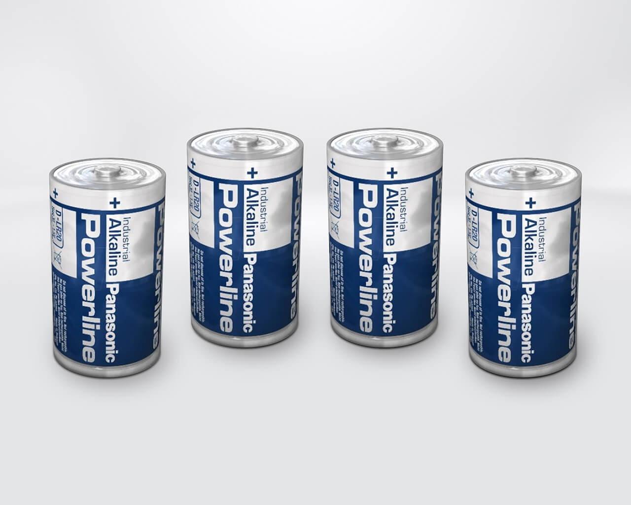 Alkaline Batterien Typ D (4 Stk)